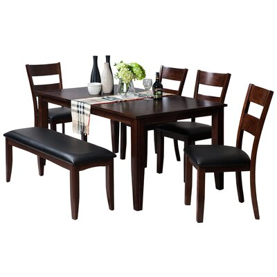 Haan Modern 6 Piece Dining Set Color: Espresso