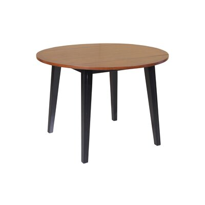 Dinh Dining Table Color: Black/Cherry