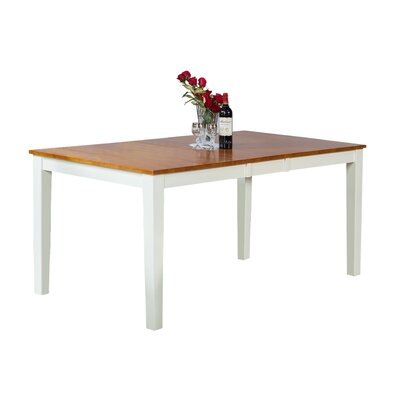 Downieville-Lawson-Dumont Dining Table Color: Oak/White