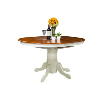 Ashmore Dining Table Color: Oak and White