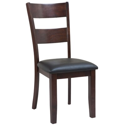 Dinsmore Ladder Back Solid Wood Dining Chair Color: Espresso, Set of: Set of 2