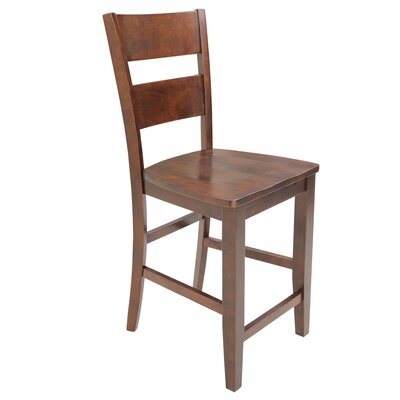 Dinsmore Curved Back Solid Wood Dining Chair Color: Espresso, Set of: Set of 6