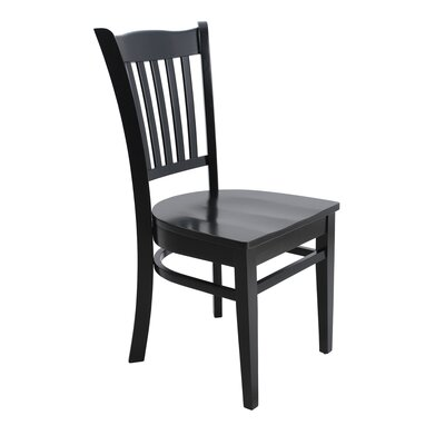 Lavonna Curved Back Solid Wood Dining Chair Color: Black, Set of: Set of 6