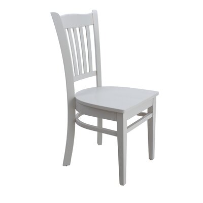 Lavonna Curved Back Solid Wood Dining Chair Color: White, Set of: Set of 2