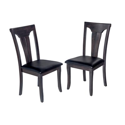 Jesenof Solid Wood Dining Chair Color: Dark Gray
