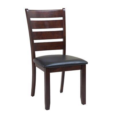 Jesenof Cottage Ladder Back Solid Wood Dining Chair Color: Espresso, Set of: Set of 4