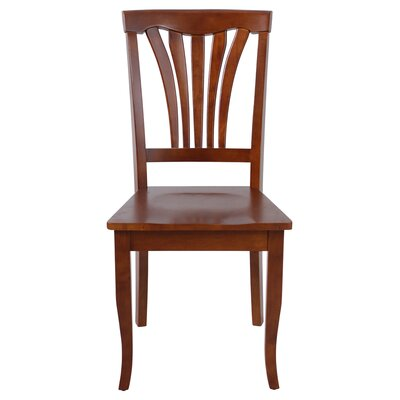 Jesenof Solid Wood Dining Chair Color: Saddle Brown, Set of: Set of 2