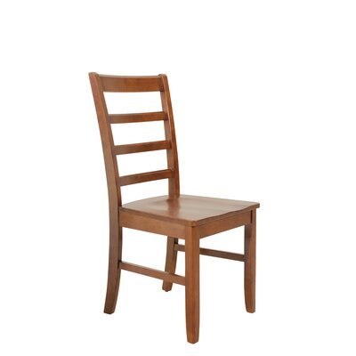 Dinsmore Solid Wood Dining Chair Color: Saddle Brown, Set of: Set of 4