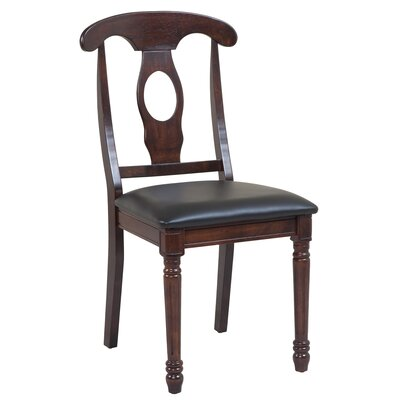 Lavonna Cottage Solid Wood Dining Chair Color: Espresso, Set of: Set of 6