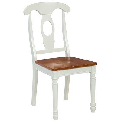 Lavonna Solid Wood Dining Chair Color: Oak/White, Set of: Set of 2