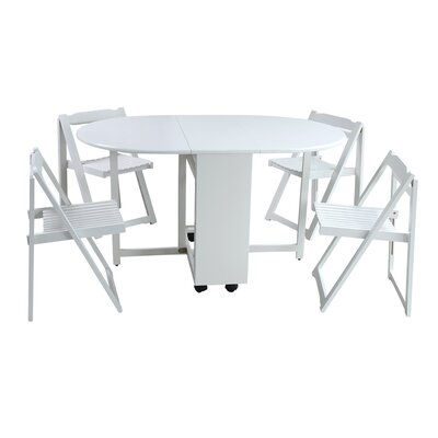 Sandman 5 Piece Dining Set Color: White
