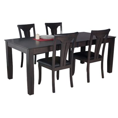 Avangeline 5 Piece Wood Dining Set Color: Dark Gray