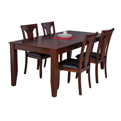 Avangeline 5 Piece Wood Dining Set Color: Espresso