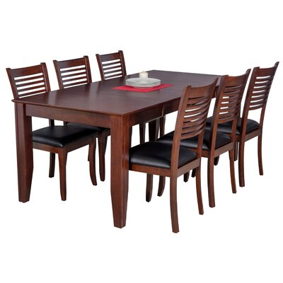 Avangeline 7 Piece Dining Set Color: Espresso