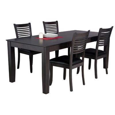 Avangeline 5 Piece Dining Set Color: Dark Gray