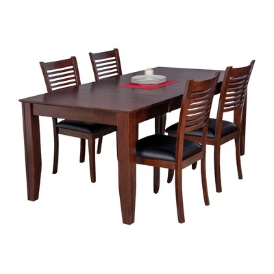 Avangeline 5 Piece Dining Set Color: Espresso