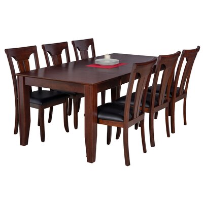 Avangeline 7 Piece Solid Wood Dining Set Color: Espresso