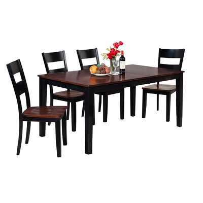 Downieville-Lawson-Dumont Dining Set Color: Distressed Light Cherry/Black