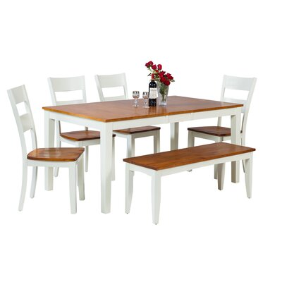 Downieville-Lawson-Dumont 6 Piece Dining Set Color: Oak/White