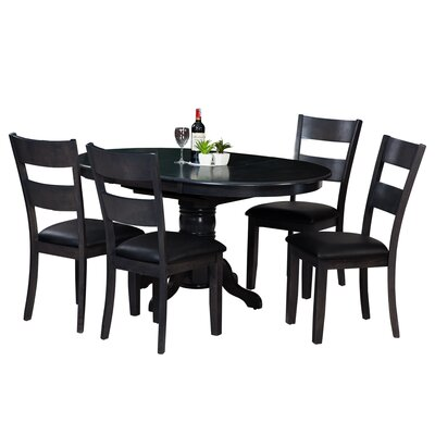 Maryrose 5 Piece Wood Dining Set Color: Dark Gray