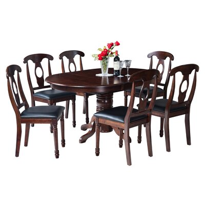Maryrose 7 Piece Wood Dining Set with Butterfly Leaf Table Color: Espresso