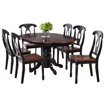 Maryrose 7 Piece Dining Set Color: Distressed Light Cherry/Black