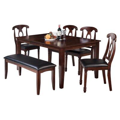 Haan Traditional 6 Piece Dining Set Color: Espresso