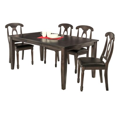 Haan 5 Piece Dining Set Color: Dark Gray