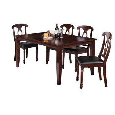 Haan 5 Piece Dining Set Color: Espresso