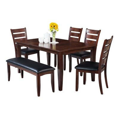 Haan 6 Piece Dining Set Color: Espresso