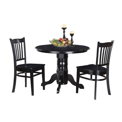 Aspinwall 3 Piece Dining Set Color: Black