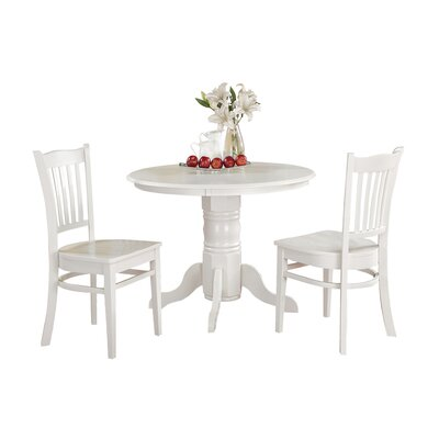 Aspinwall 3 Piece Dining Set Color: White