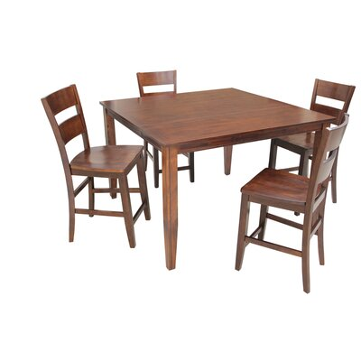 Blessington 5 Piece Counter Height Dining Set Color: Espresso