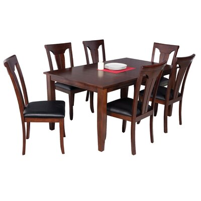 Haan 7 Piece Dining Set Color: Espresso