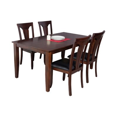 Haan Modern 5 Piece Wood Dining Set Color: Espresso