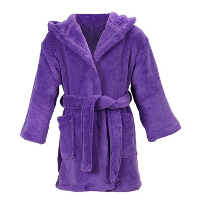 Gibson Hooded Plush Velvet Bathrobe Size: Medium, Color: Purple