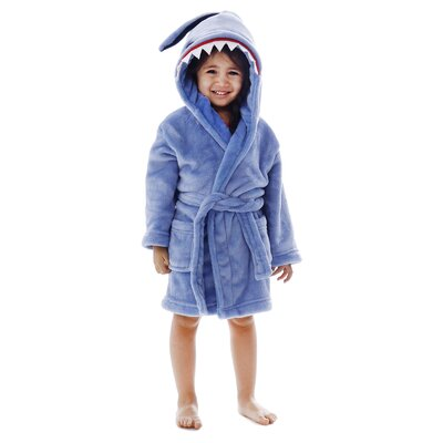 Giambrone Animal Adventures Hooded Solid Terry Bathrobe Size: Extra Large, Color: Blue