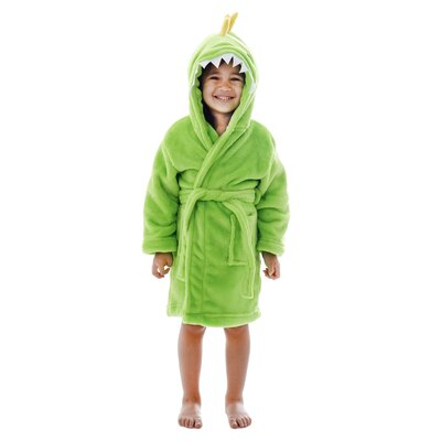 Giambrone Animal Adventures Hooded Rectangle Terry Bathrobe Size: Small