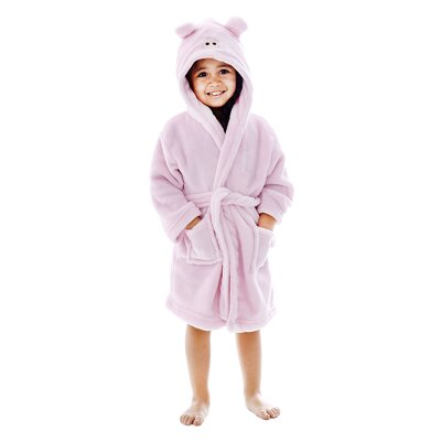 Giambrone Animal Adventures Hooded Solid Rectangle Terry Bathrobe Size: Medium