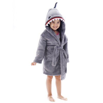 Giambrone Animal Adventures Hooded Solid Terry Bathrobe Size: Extra Large, Color: Gray
