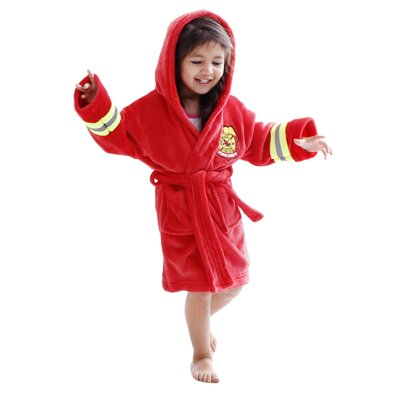 Giambrone Heroes Fireman Soft Hooded Terry Bathrobe Size: Extra Large