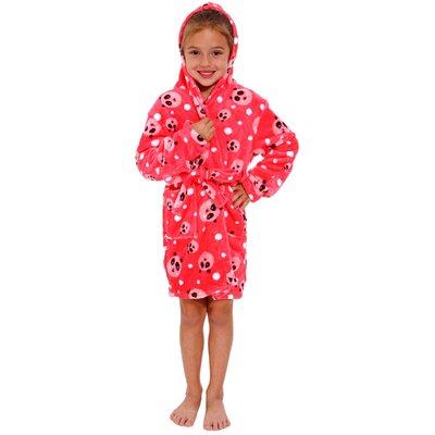 Geurie Childrens Hooded Plush Velvet Bathrobe Size: Small