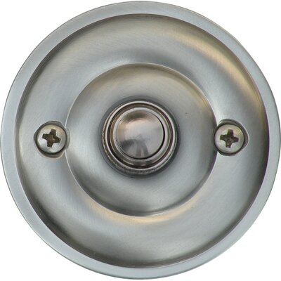 Traditional Door Bell Surface Mount Pushbutton Finish: Satin Nickel