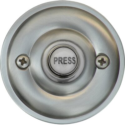 Traditional Metal Door Bell Surface Mount Pushbutton Finish: Satin Nickel