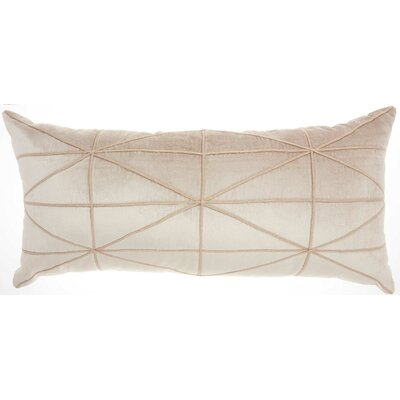 Velvet Lumbar Pillow Color: Beige