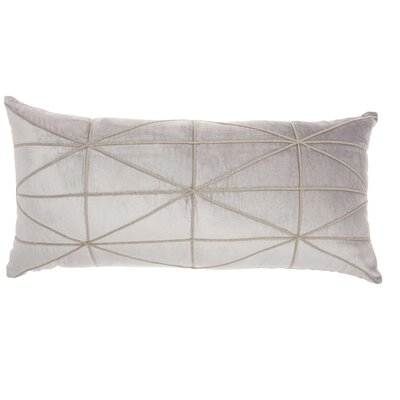 Velvet Lumbar Pillow Color: Light Gray