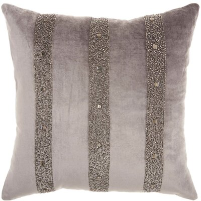 Throw Pillow Color: Dark Grey
