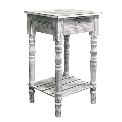 Audubon Pine Wood End Table