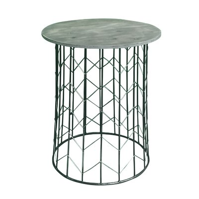 Pflugerville Chevron Metal End Table