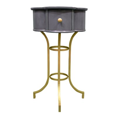 Maude Clover End Table Color: Storm Blue